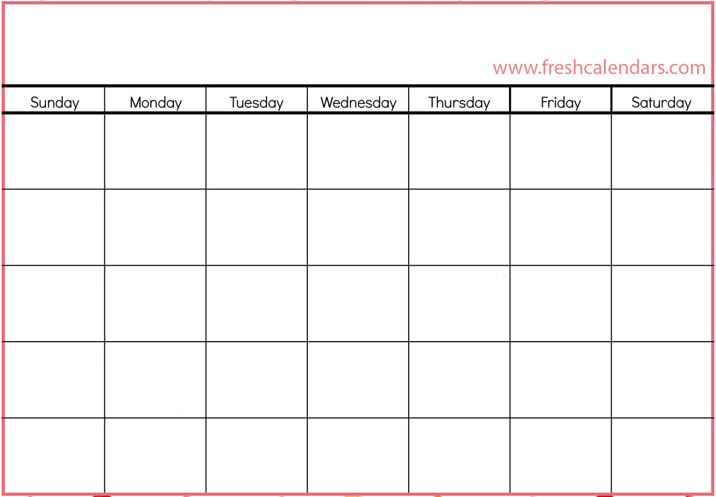 15 Blank Calendar Printable Templates 2019 Free Monthly Blank