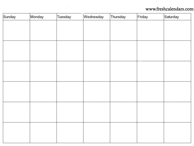15 blank calendar printable templates 2019 free monthly blank