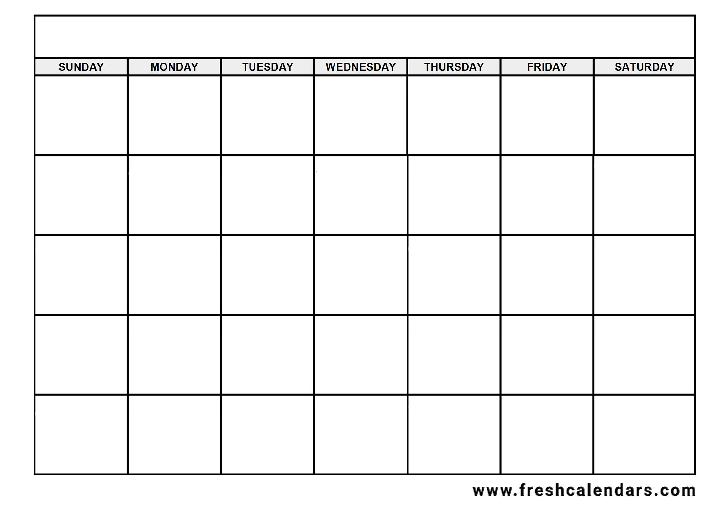 Calendar Blank 2020 Free Word With Week Name