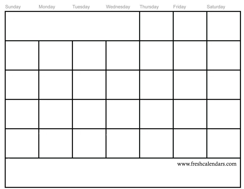 calendar of blank templates with extra spaces
