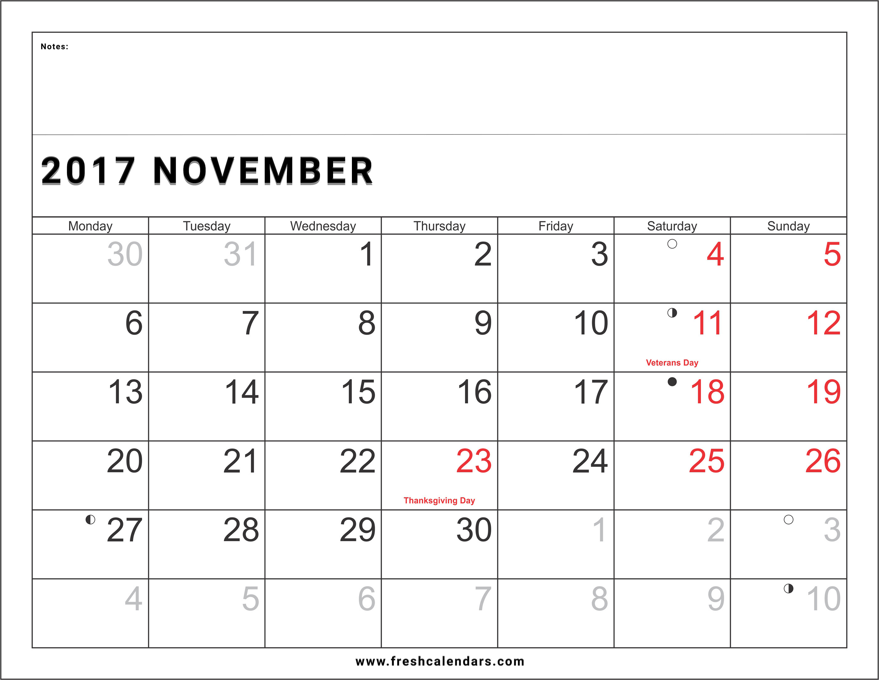image regarding Printable Nov. Calendar named November 2017 Calendar Printable Templates