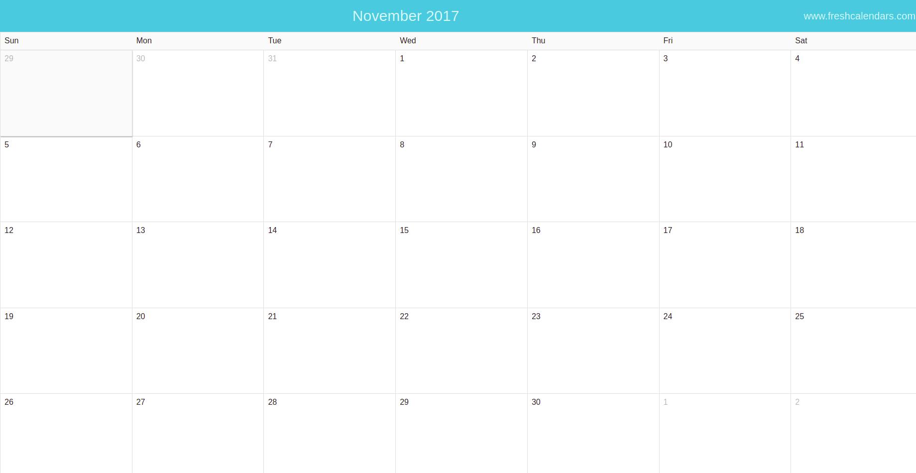 10 day calendar template
