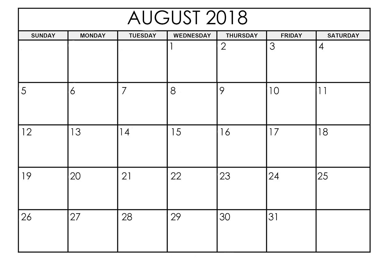 august 2018 calendar printable online