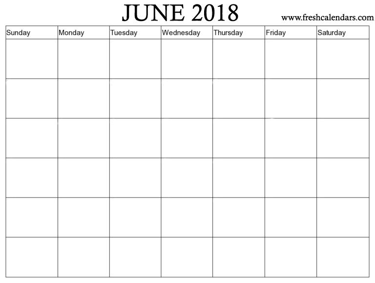 June 2018 Printable Calendars Fresh Calendars
