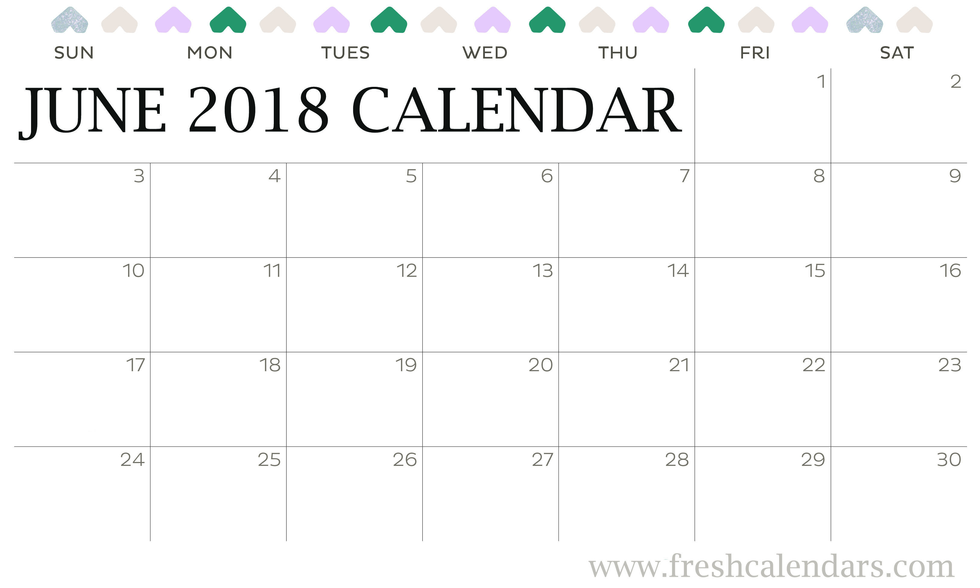 Monthly Calendar Clipart : Blank june calendar printable templates