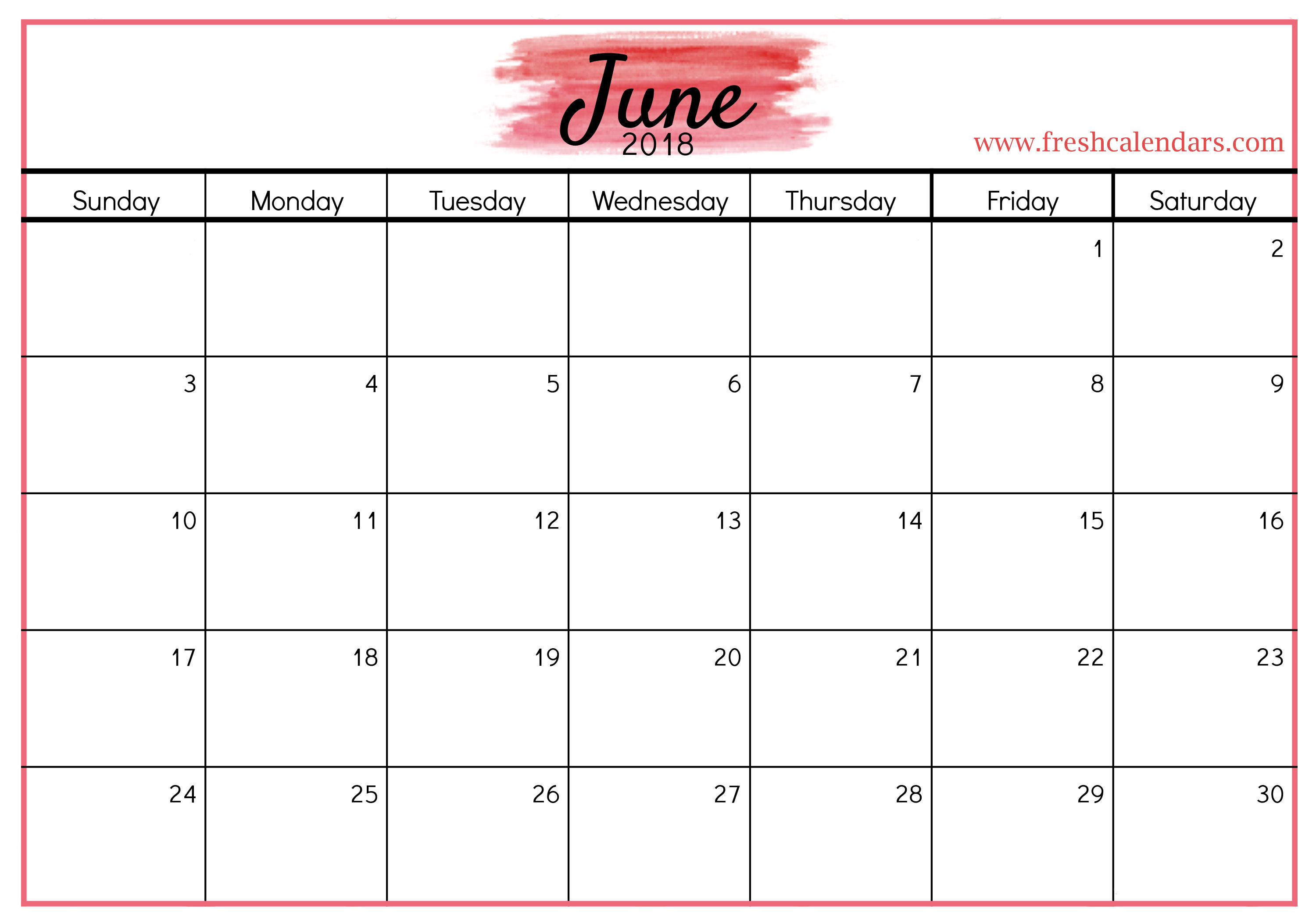 Calendar June : Best june calendar printable templates