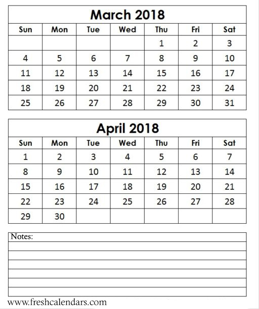 Calendar April And March : Best march calendar printable templates