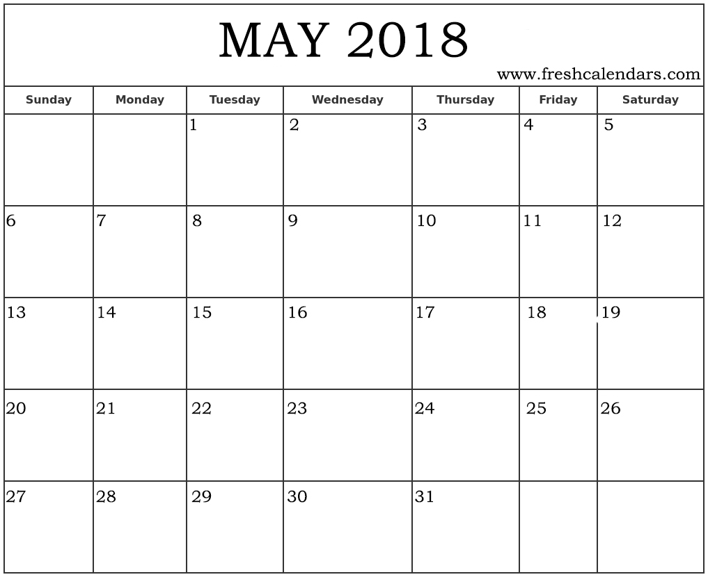 Calendar May Of : Blank may calendar printable templates