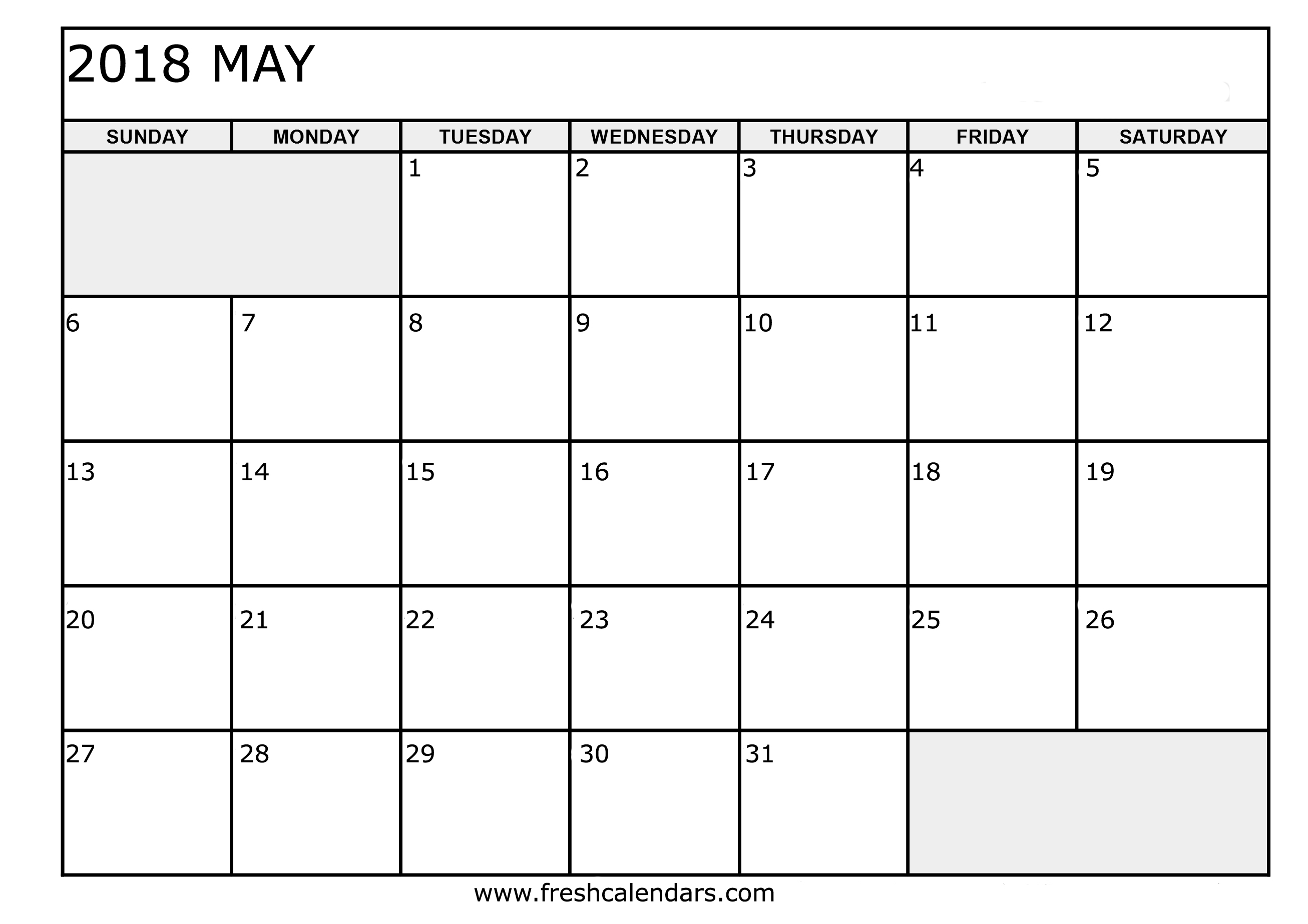 downloadable calendar template