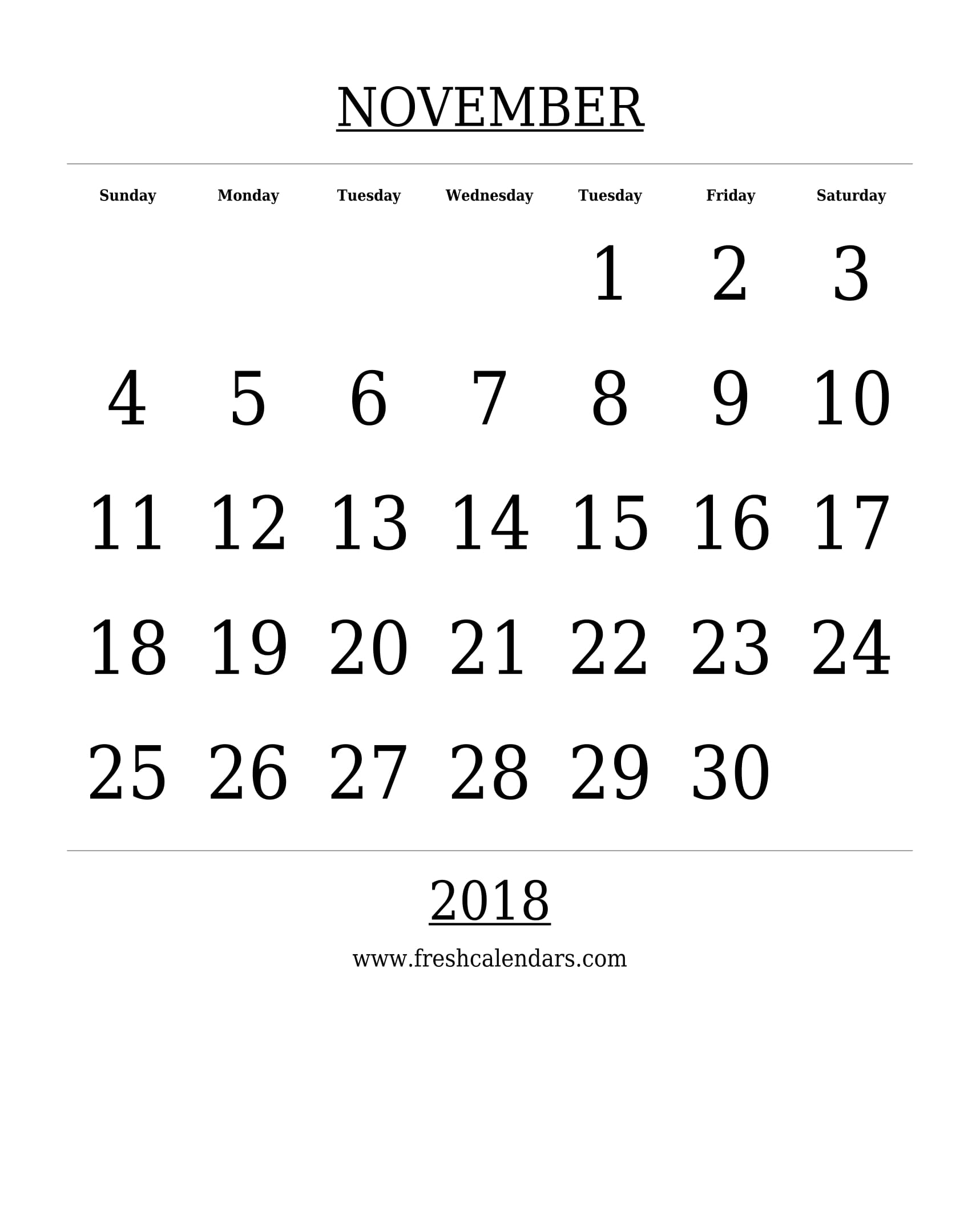 november 2018 calendar cute printable weekly calendar