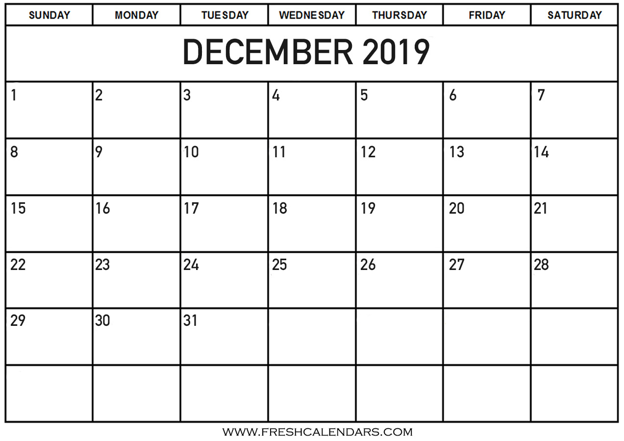 December 2019 Calendar Printable Fresh Calendars