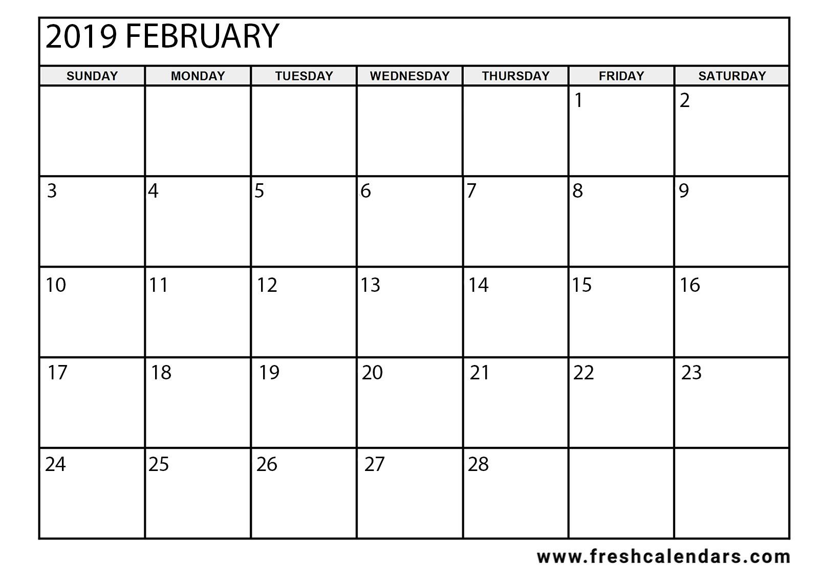 Julian Leap Year Calendar : 15 best february 2019 calendar printable templates