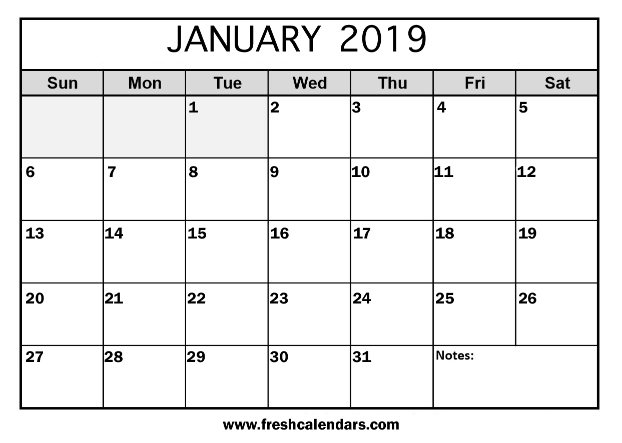 Satisfactory image with january printable calender
