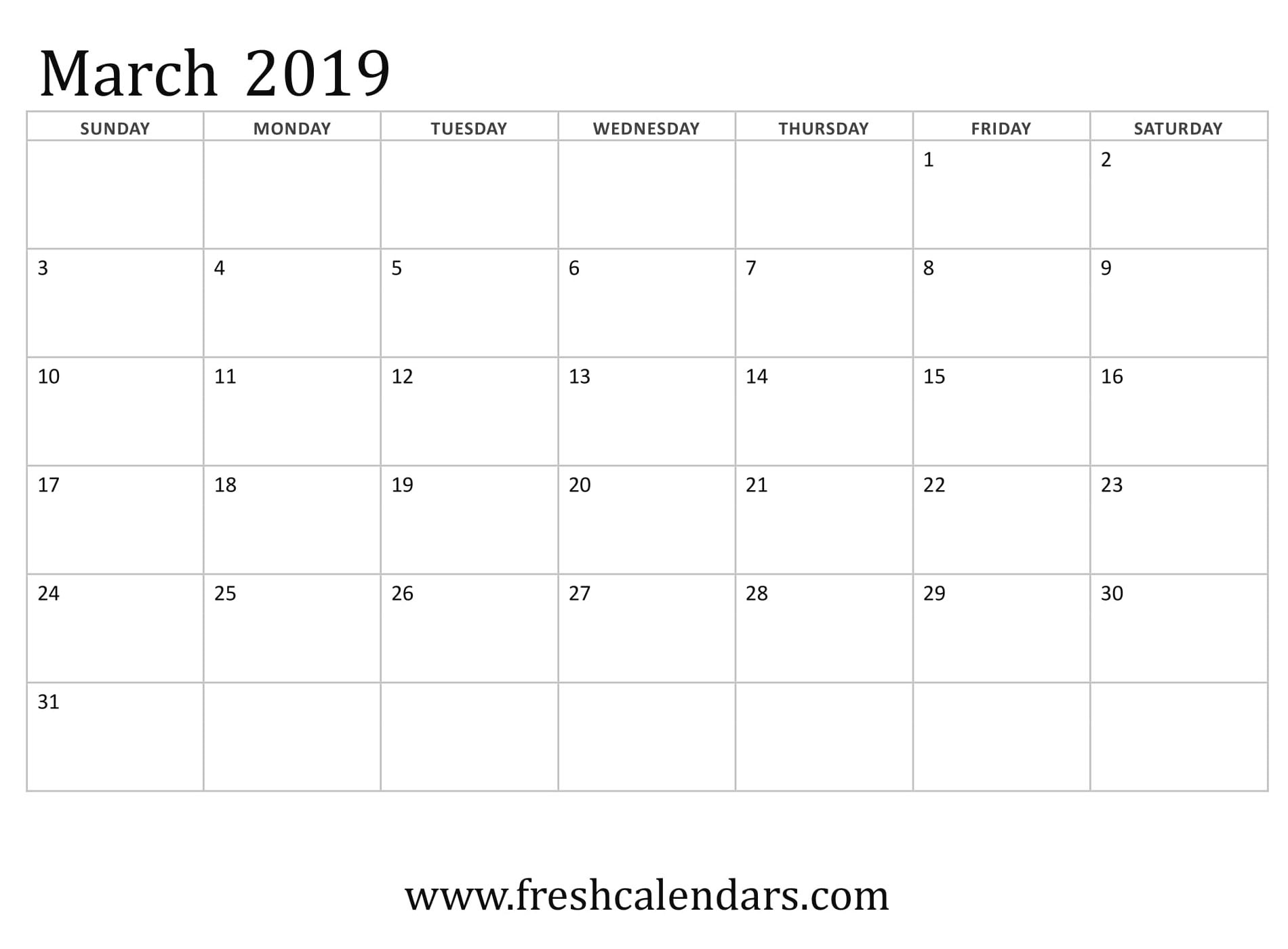 March 2019 Calendar Printable Fresh Calendars