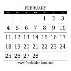 february 2018 calendar
