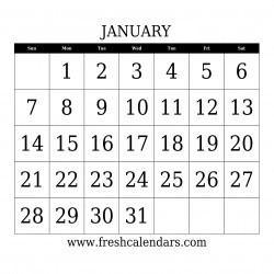 blank 2018 calendar