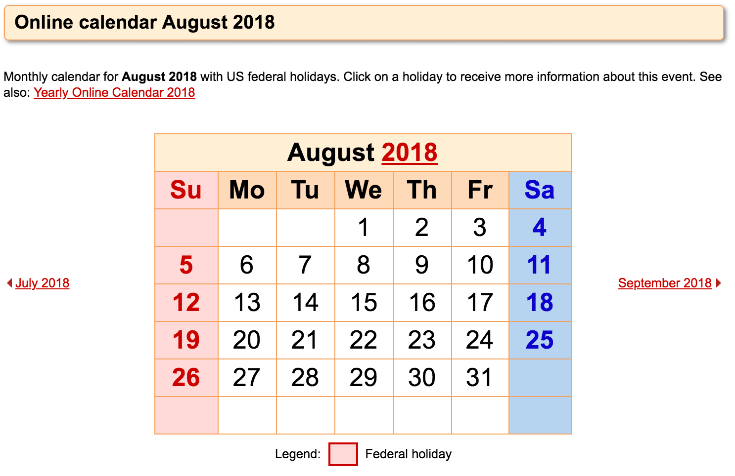 Word. PDF. Excel August 2019 Calendar Templates