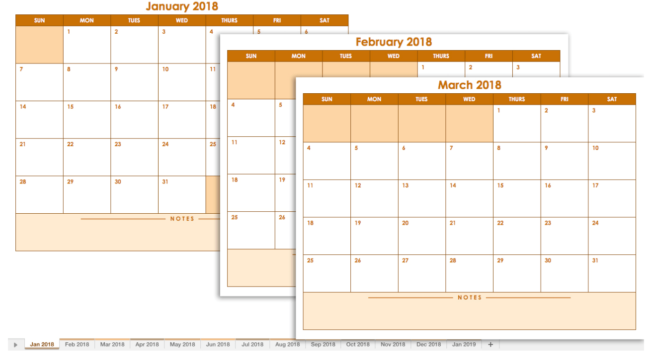 20 Free Calendar Templates for Work & Personal Planning  from Smartsheet