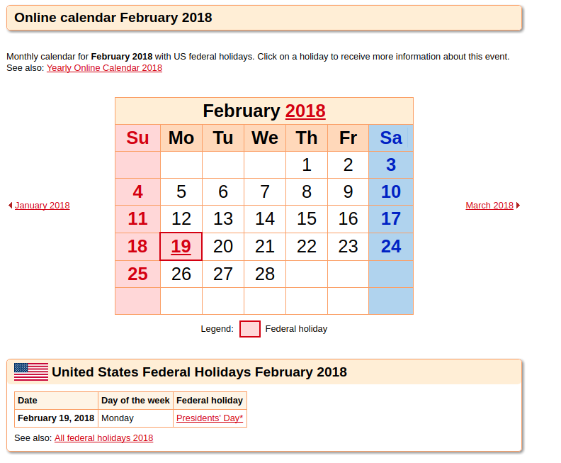 february 2018 calendar as templates for word excel pdf at calendarpedia