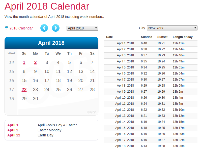 editing calendar 365 templates for April