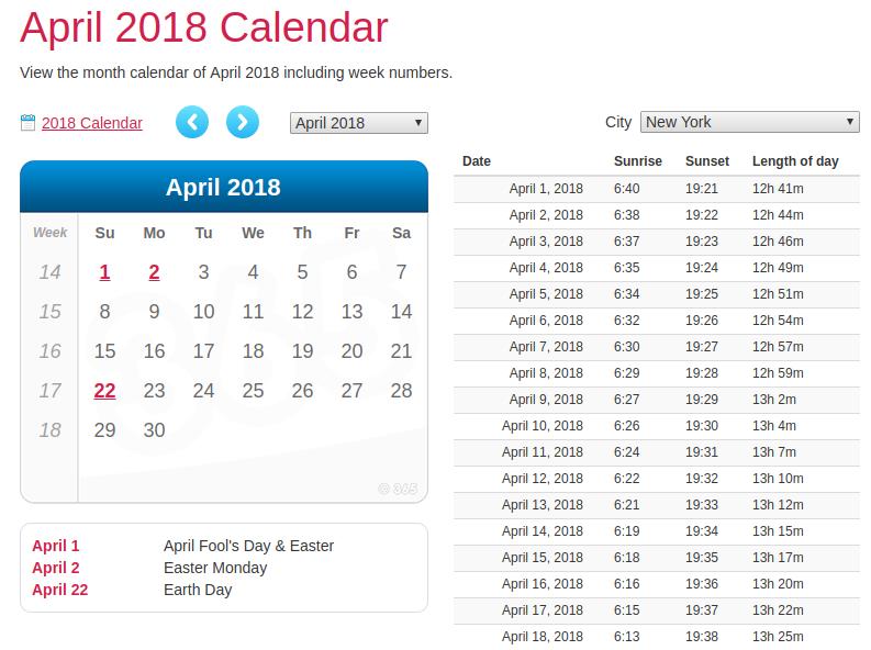 editing calendar 365 templates for April