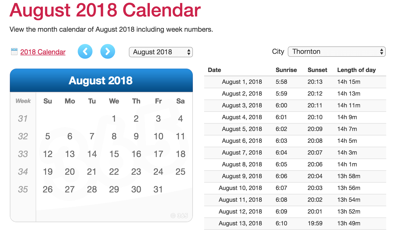 editing calendar 365 templates for August